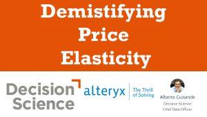 Demistifying Price Elasticity